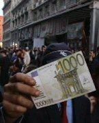 A fake 1000 euro note