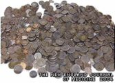 The 350 french coins extracted from the 62-year-old's stomach!