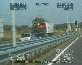 A 'wrong way' driver almost hits a van